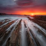 The Flysch Route: cliffs with 50 million years of history. Basque County Spain